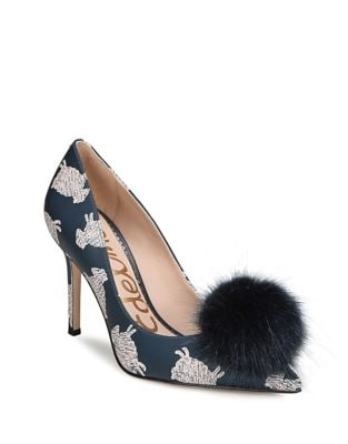 Haroldson Pump with Faux Fur Pompom by Sam Edelman
