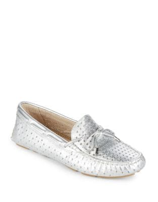 Florentine Perforated Metallic Loafers by Sam Edelman