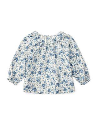 Baby Girls Floral Print Cotton ALine Top