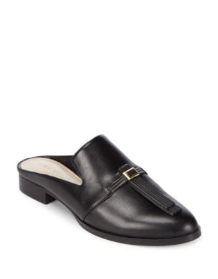 Huebart Leather Mules by Nine West