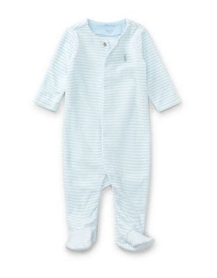 Baby Boys Striped Footies
