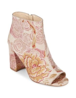 Haywood Textile Open Toe Booties by Nine West