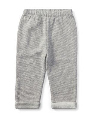 Baby Boys Textured Cotton Pants