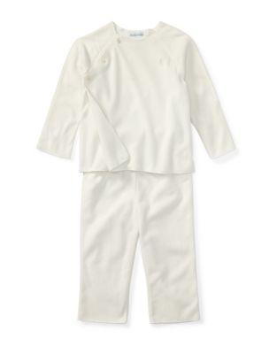 Baby Boys TwoPiece Fleece Top  Pants Set