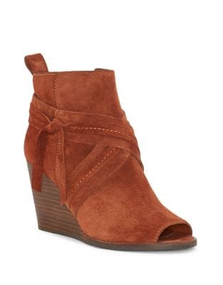 Zippered Wedge Booties by Lucky Brand