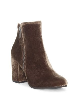 Shaynah Velvet Booties by Lucky Brand