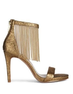 Bettina Textured Leather Ankle-Strap Sandals by Kenneth Cole New York