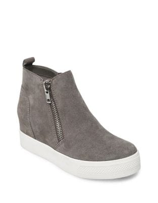 Zipped Suede Sneakers by Steve Madden