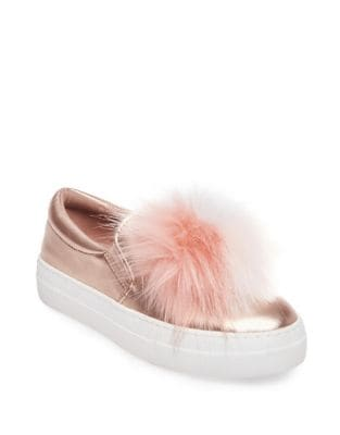 Great Leather Faux Fur Sneakers by Steve Madden