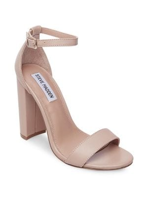 Carrson Leather Ankle-Strap Sandals by Steve Madden