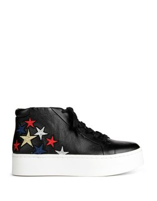 Janette Star Leather Sneakers by Kenneth Cole New York