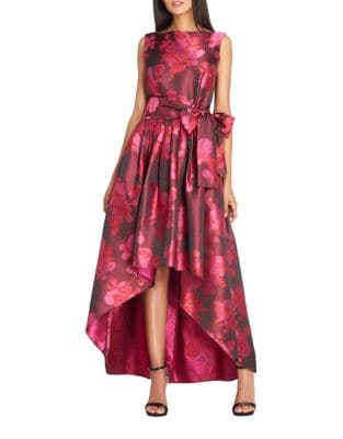 Floral High-Low Dress by Tahari Arthur S. Levine