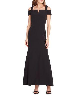Crepe Fit-&-Flare Dress by Tahari Arthur S. Levine