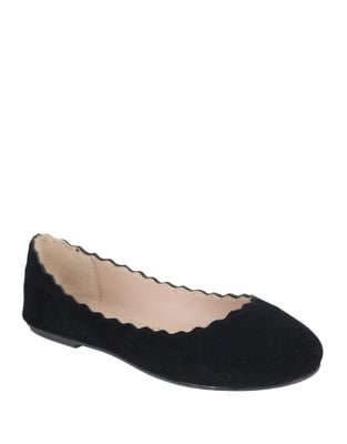 Giana Suede Ballet Flats by Mia