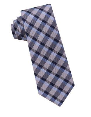 Boy's Check Silk Tie...