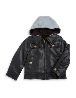Little Boy's Moto Jacket...