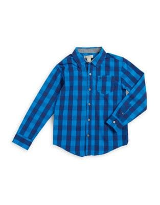 Boy's Patterned Button-Down Shirt 500087440198
