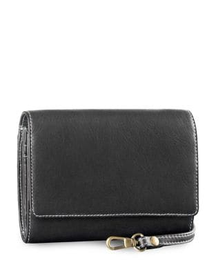Convertible Leather Clutch 500087442052