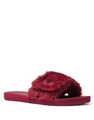 Faux Fur Slides by MICHAEL MICHAEL KORS