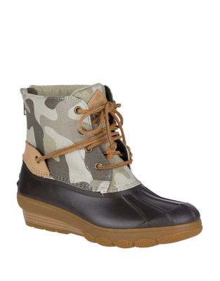 Saltwater Leather Ankle Boots by Sperry