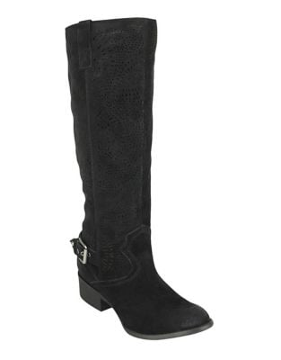 Ziba Suede Tall Boots by Naughty Monkey