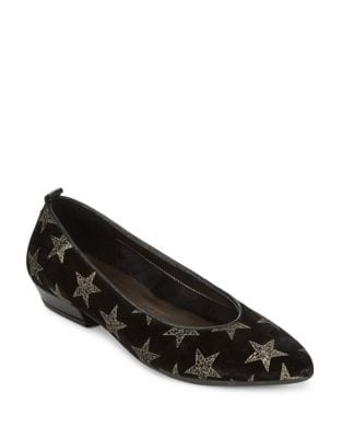 Musee Leather Flats by The Flexx