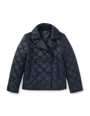 Girls Quilted Peacoat 500087446907