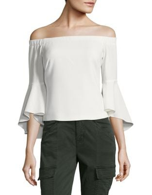 Off-the-Shoulder Bell Sleeve Top by Eliza J