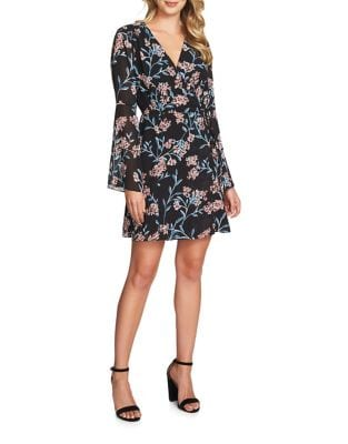 Floral Wrap Dress by Cynthia Steffe