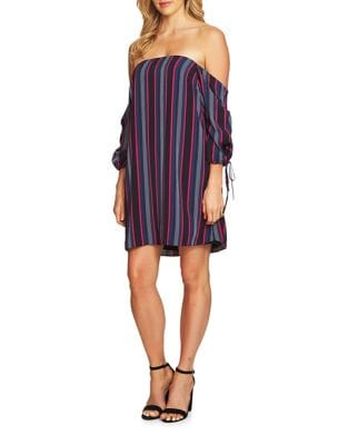 Stripe Off-the-Shoulder Dress by Cynthia Steffe