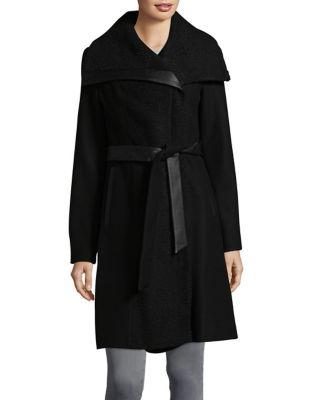 Textured Wrap Coat @...