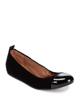 Textile and Leather Cap Toe Ballet Flats by Ed Ellen Degeneres