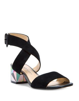 Margot Ankle Strap Suede Sandals by Katy Perry