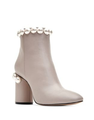Opearl Leather Embellished Booties by Katy Perry