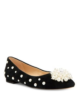 Lady Suede Embellished Flats by Katy Perry