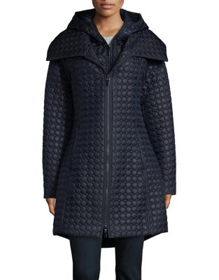 Hooded Quilted Coat 500087455377