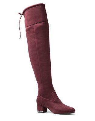 Jamie Zip Suede Over-The-Knee Boots by MICHAEL MICHAEL KORS