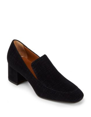 Jilianne Velour Block Heel Loafers by Aquatalia
