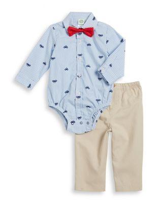 Baby Boys Two-Piece Car Cotton Bodysuit and Pants Set 500087460709