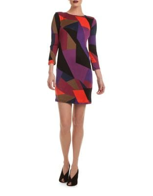 Multicolor Geometric Shift Dress by Trina Turk
