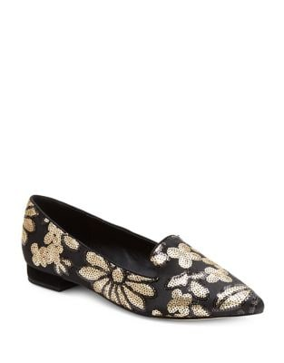 Alanis Floral Sequin Flats by Nanette By Nanette Lepore