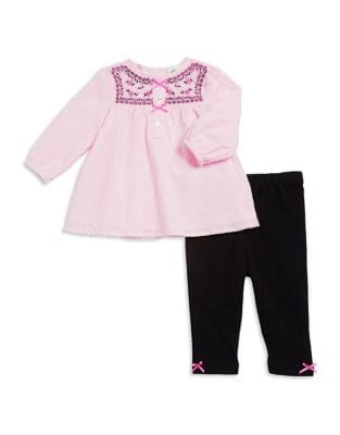 Baby Girls TwoPiece Cotton Floral Tunic and Leggings Set
