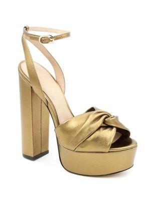 Claudette Leather Platform Sandals by Rachel Zoe