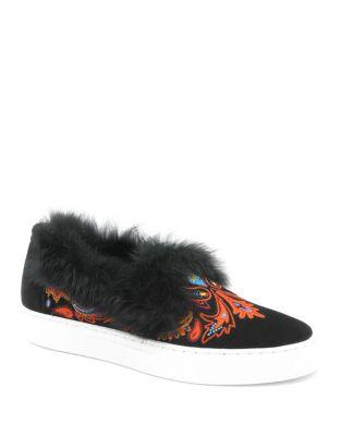 Buke Rabbit Fur Leather Sneakers by Rachel Zoe