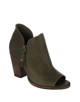 Ericka Tumbled Leather Booties by Mia