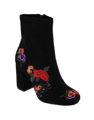 Monique Faux Suede Booties by Mia