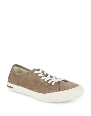 Lace-Up Suede Sneakers by Seavees