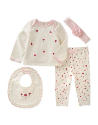 Baby Girls FourPiece Floral Set