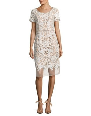 Embroidered Knee-Length Dress by Nue By Shani