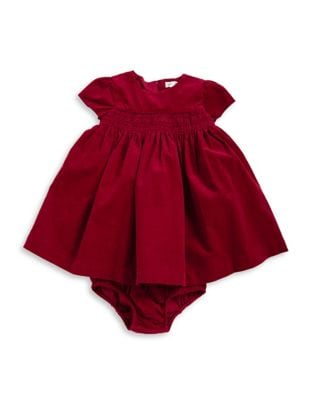 Baby Girls TwoPiece Cotton Shirt Dress and Bloomers Set